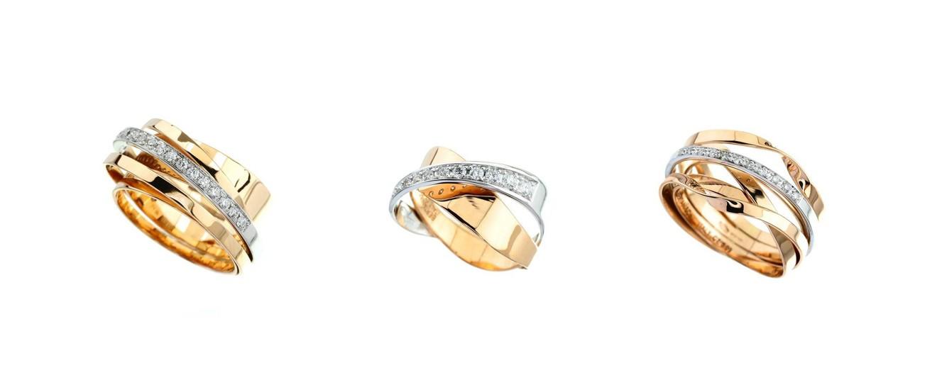 Drei Ringe mit Brillanten
